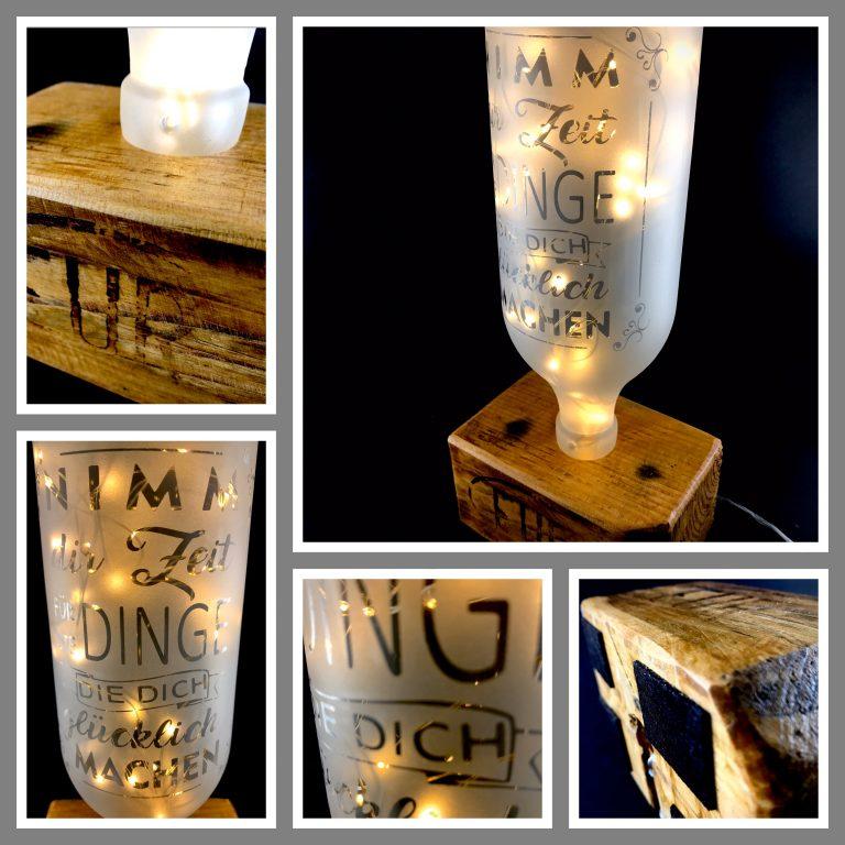Tischlampe Flasche Zeit